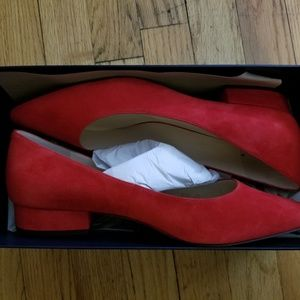 Cole Haan Red Block Heel Pumps